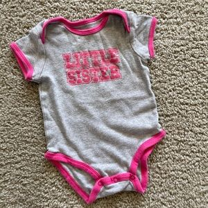 Carters Little Sister Onesie 12 months